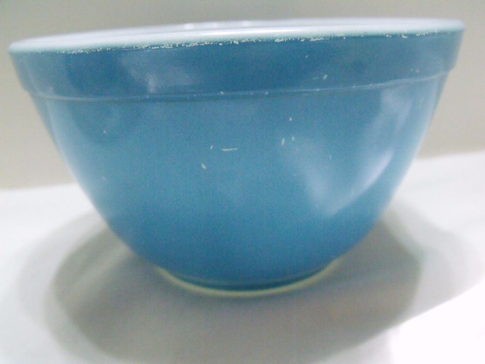 VINTAGE PYREX NESTING BOWL BLUE NO. 401 SMALLEST HARD TO FIND #PYREX ...