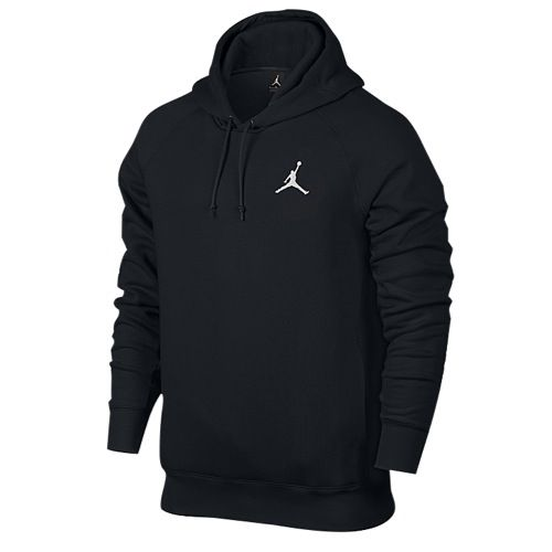 cheap for discount f0073 a514b Jordan Flight Fleece Pull Over Hoodie - Men s - All Black   Black