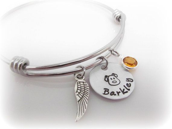 bracelet memorial initial no by amazon in forever loss my heart pet longer dp com side choose