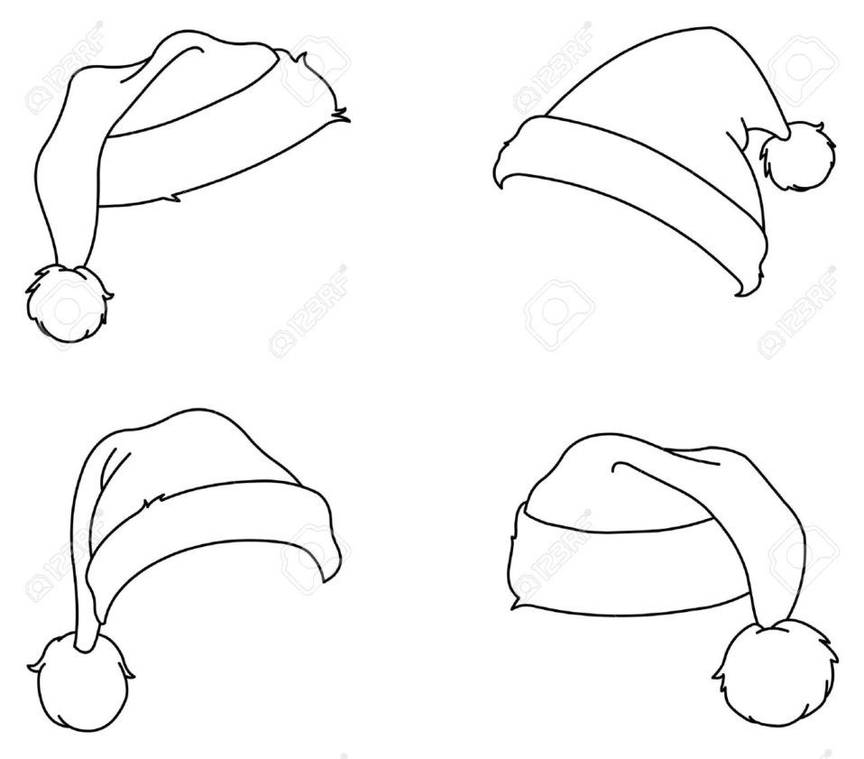 Christmas Excelent Santa Hat Drawing Oreorawberry