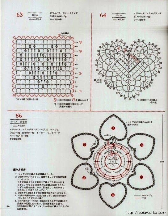 FREE DIAGRAMS ~ Crochet and ar | Crochet | corazones | Pinterest ...