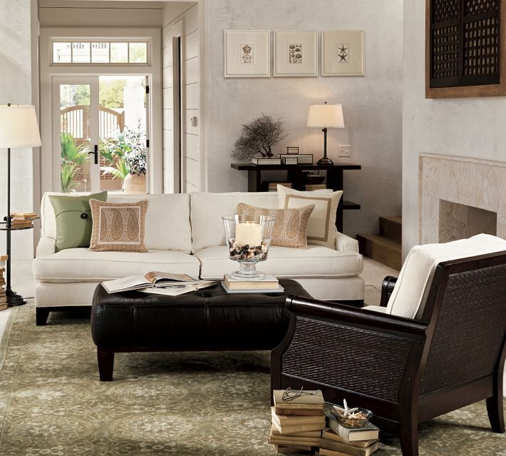 Sullivan Ottoman  Living Room  Pinterest  Ottomans Leather Entrancing Living Rooms With Ottomans Decorating Inspiration