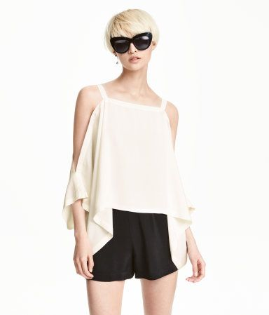 Cold-Shoulder-Shirt | Naturweiß | Damen | H&M DE