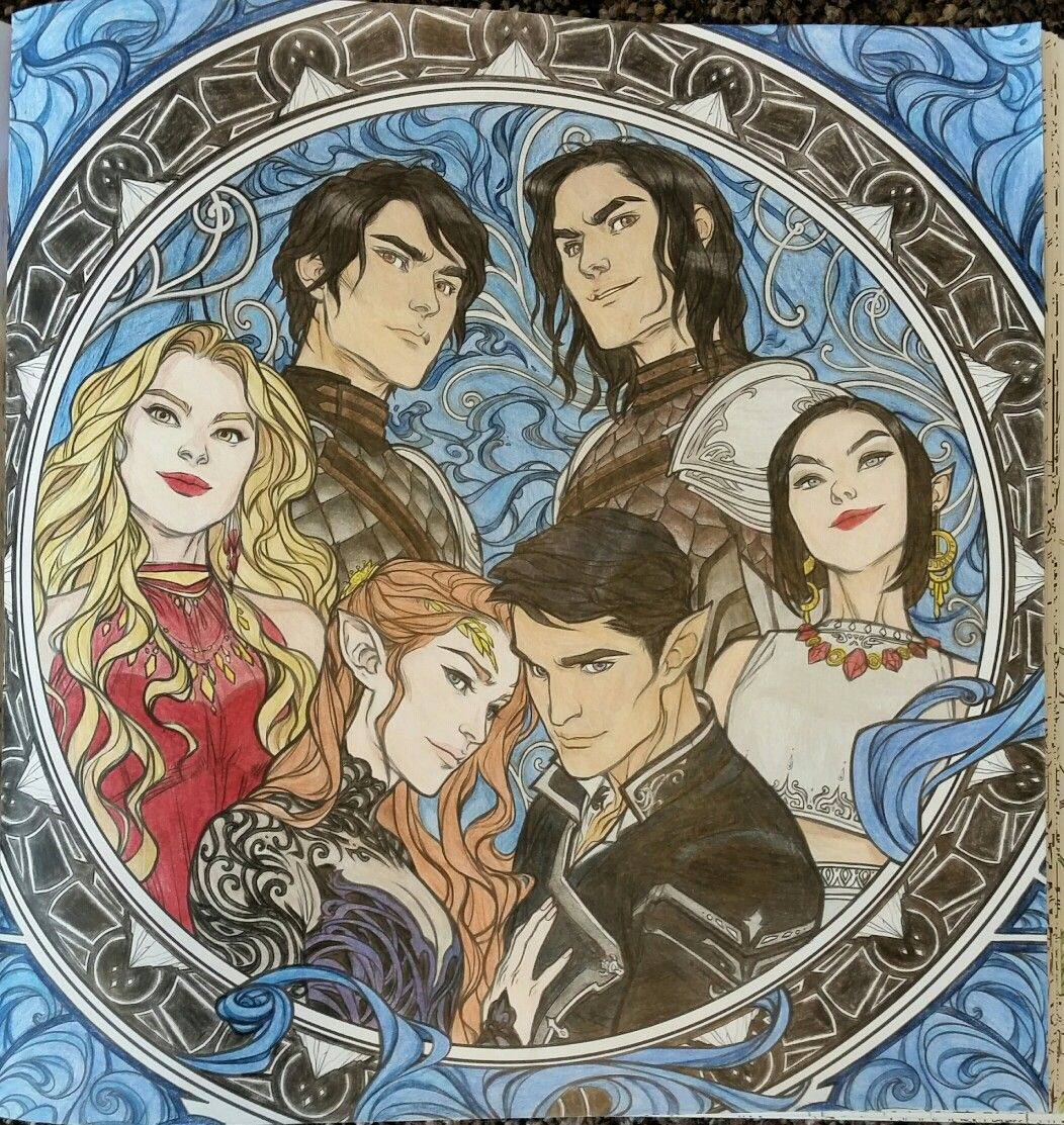 The Court Of Dreams Acotar Coloring Book Clpn A Court Of Mist