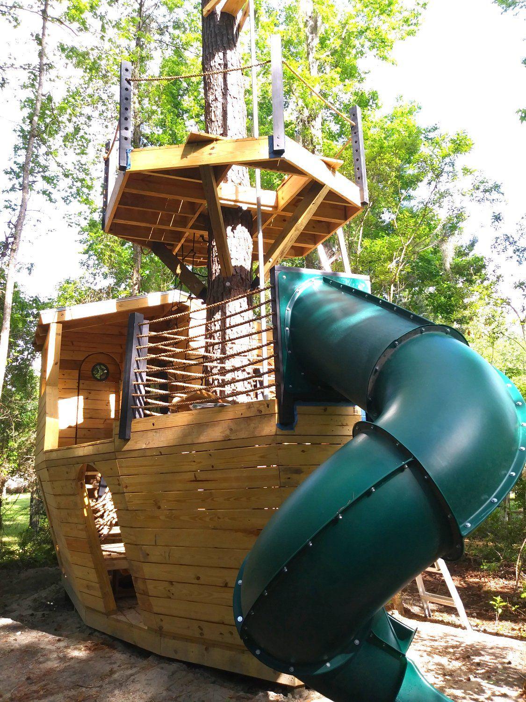 Davy Jones' Locker Pirateship Plan   Backyard in 2019 ...