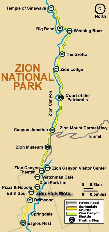 Heres An Epic Day Zion National Park Itinerary Park Utah And - Map of zion national park