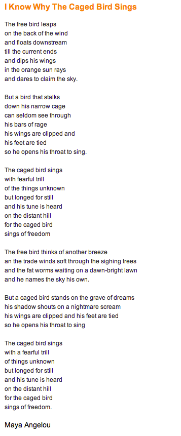 I Know Why The Caged Bird Sings Freedom Quotes Prose Poetry Cool Words