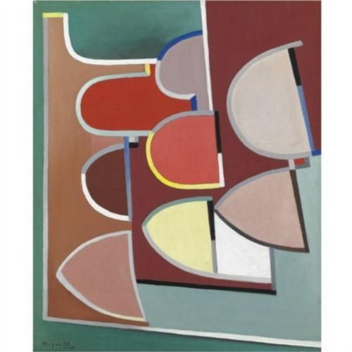 Composition - Alberto Magnelli. 1888,Italy; 1970 France