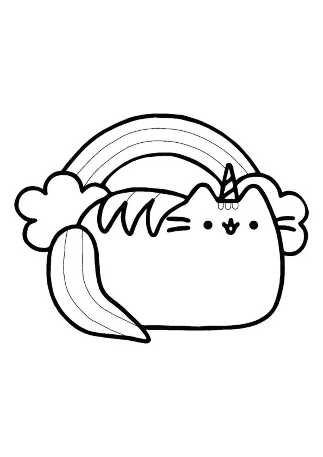 8ef704f25b4bcd72f125333c3410aba3 » Pusheen Coloring Pages