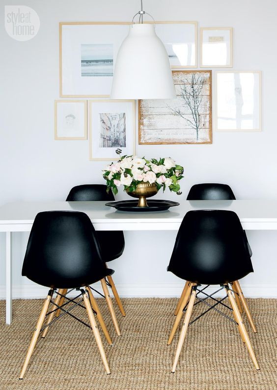 Black and White Sophisticate | Sisal rugs, Wooden frames and Sisal