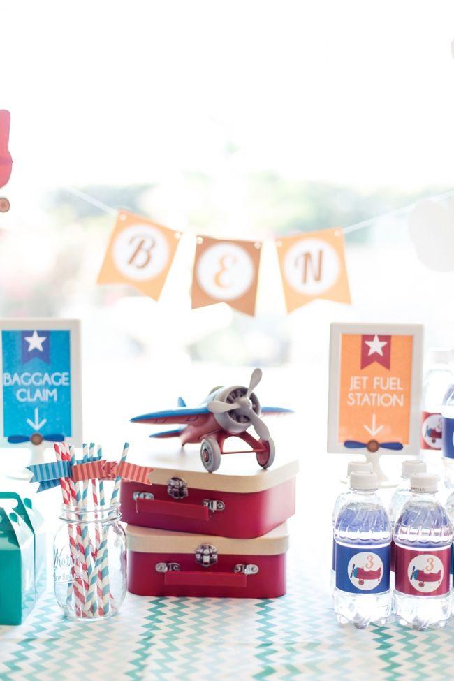 Boys Airplane Themed Birthday Party Idea Airplane birthday