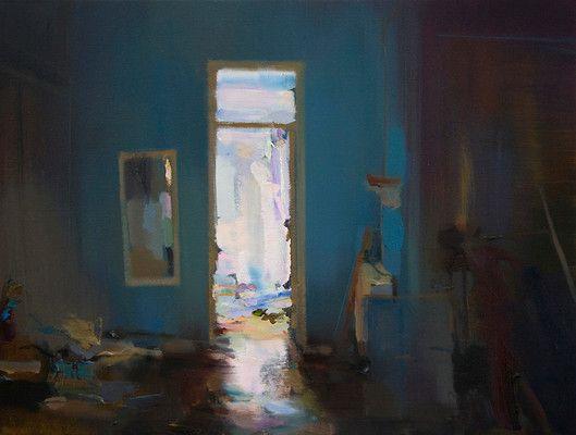 Interior #102 - Oil on canvas, 50 x 35 cm. Private collection.