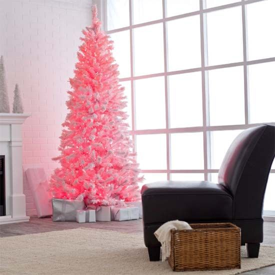 its pink! needs white or silver ornaments | kiddo stuff | Pinterest ...