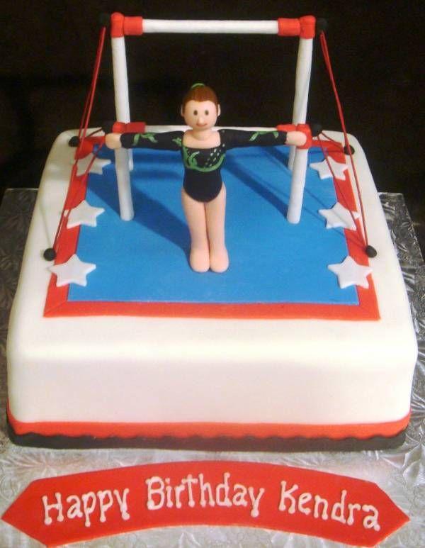 Gymnastics Themed Birthday Cake Tie Dye Covered In Homemade Mmf 2