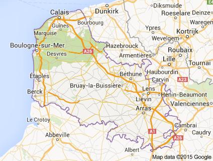 Map of departments nord pas de calais MAPS Pinterest Nord pas