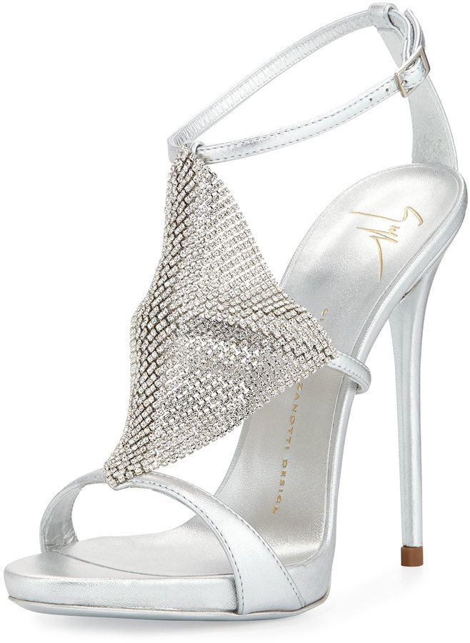 Giuseppe Zanotti Design Mesh crystal sandals buy cheap clearance 2014 new sale online sale hot sale 5MzRhp