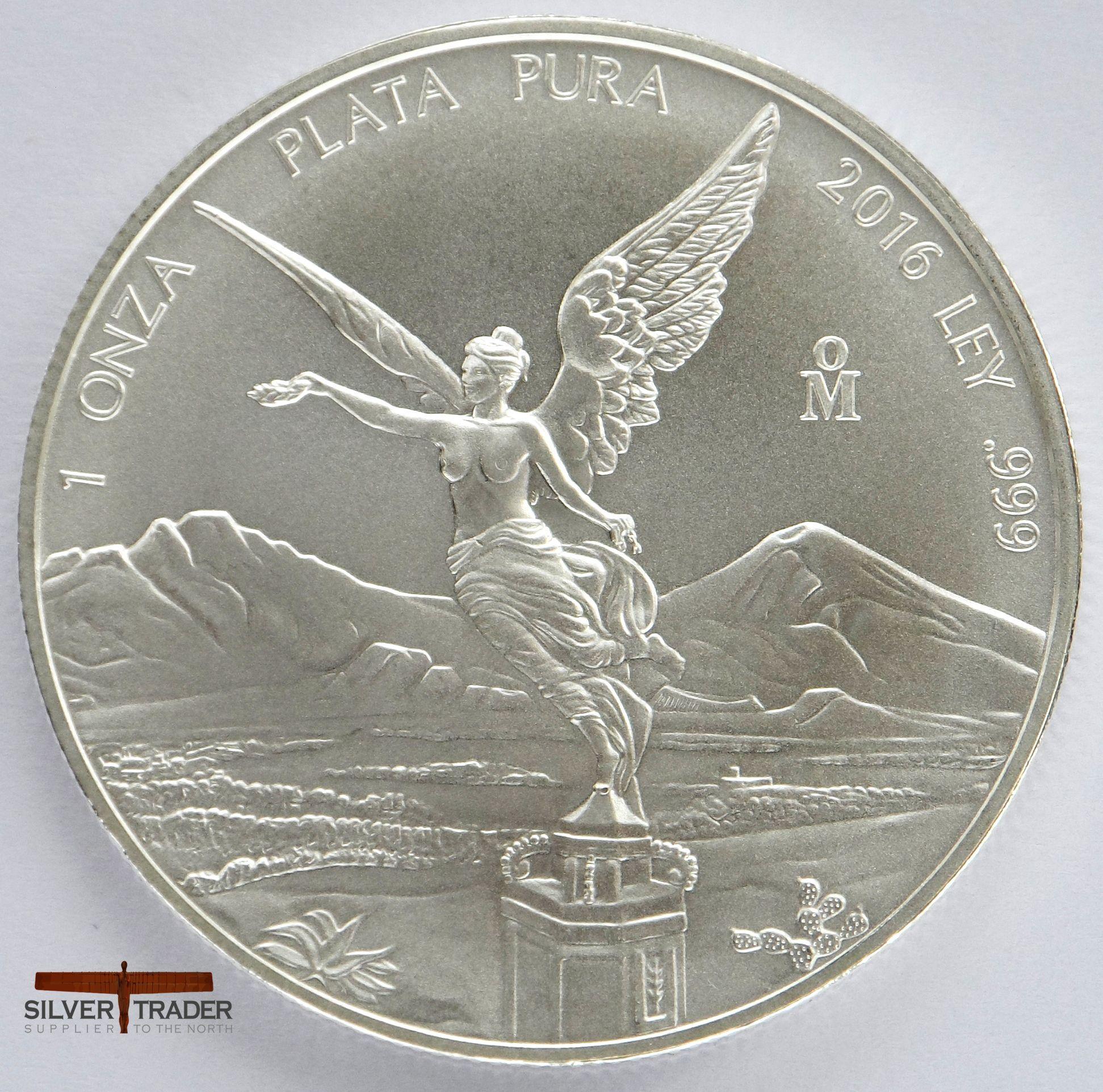 2016 Mexican Libertad 1 Oz 999 Silver Bullion Coin Silver Bullion Coins Silver Bullion Bullion Coins