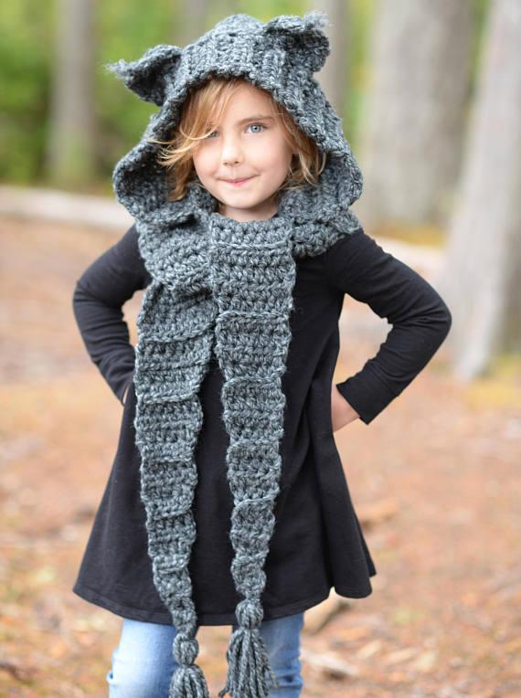 CROCHET PATTERN - Lyna Lynx Hood (Toddler, Child, Teen, Adult sizes ...