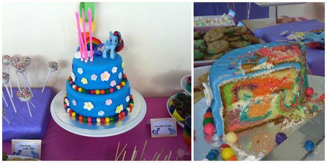 Chic Mummy   Rainbow Dash Birthday Cake