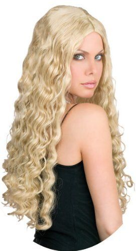 "CLASSIC LONG BLONDE 24/""  WIG HALLOWEEN FANCY DRESS UP PARTY FUN WIGS"