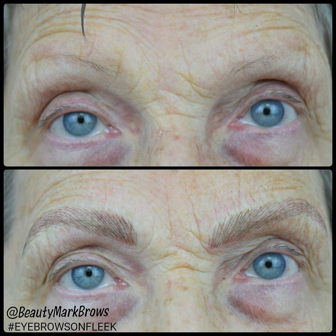 Check Out The Amazing Results Of Microblading On An Older Woman Who