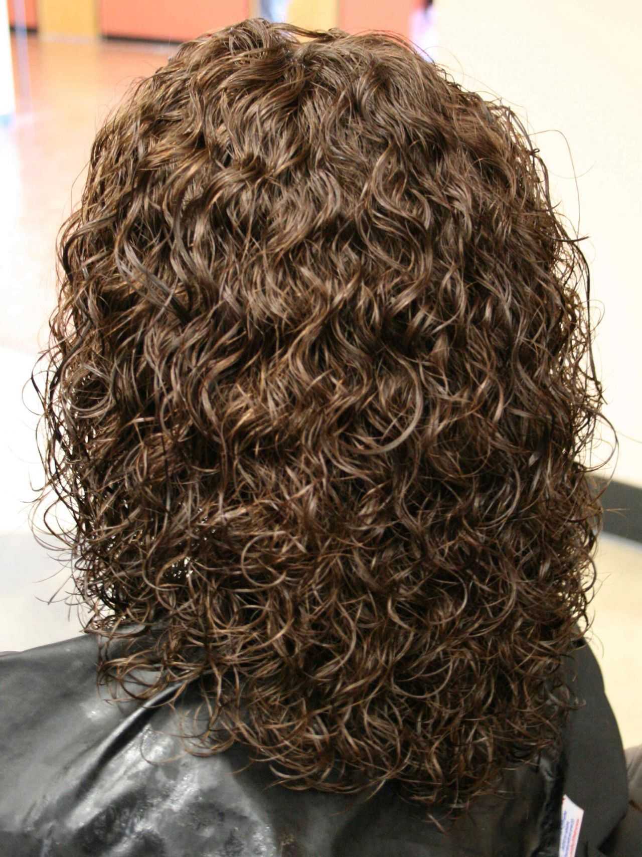perms for medium length hair | spiral perm hairstyles on