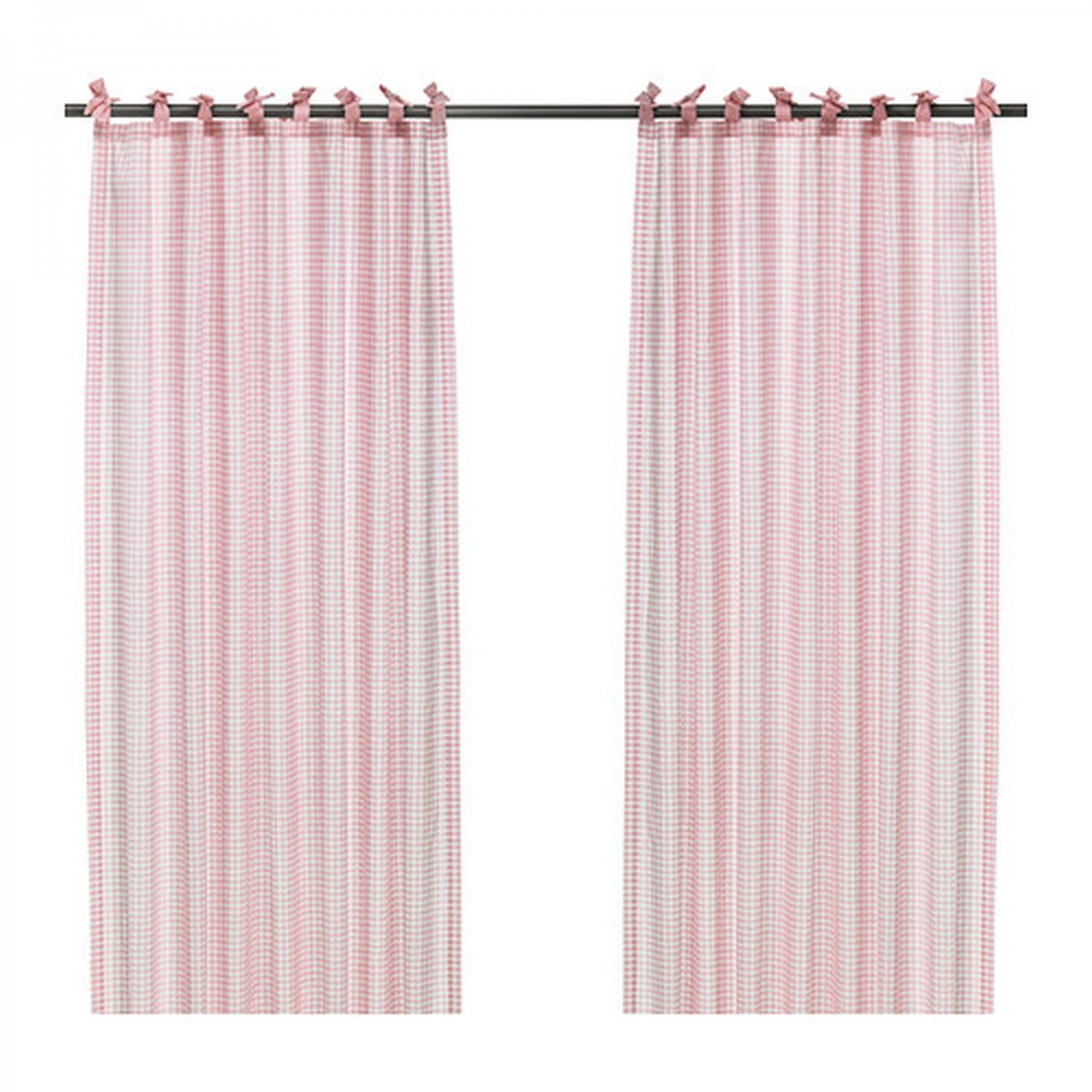 Ikea Perth Curtains Ikea Nyvaken Curtains Drapes Pink Check Gingham Country Classic