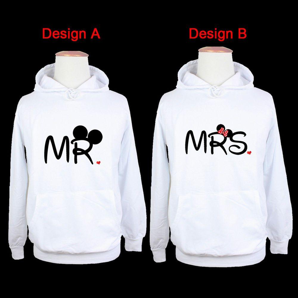 Mens Disney Mr Mickey Womens Mrs Minnie Mouse Design Sweatshirt