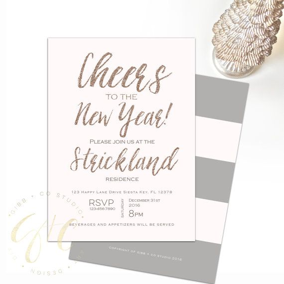 New Year's Eve Party invitation Holiday Party by ...