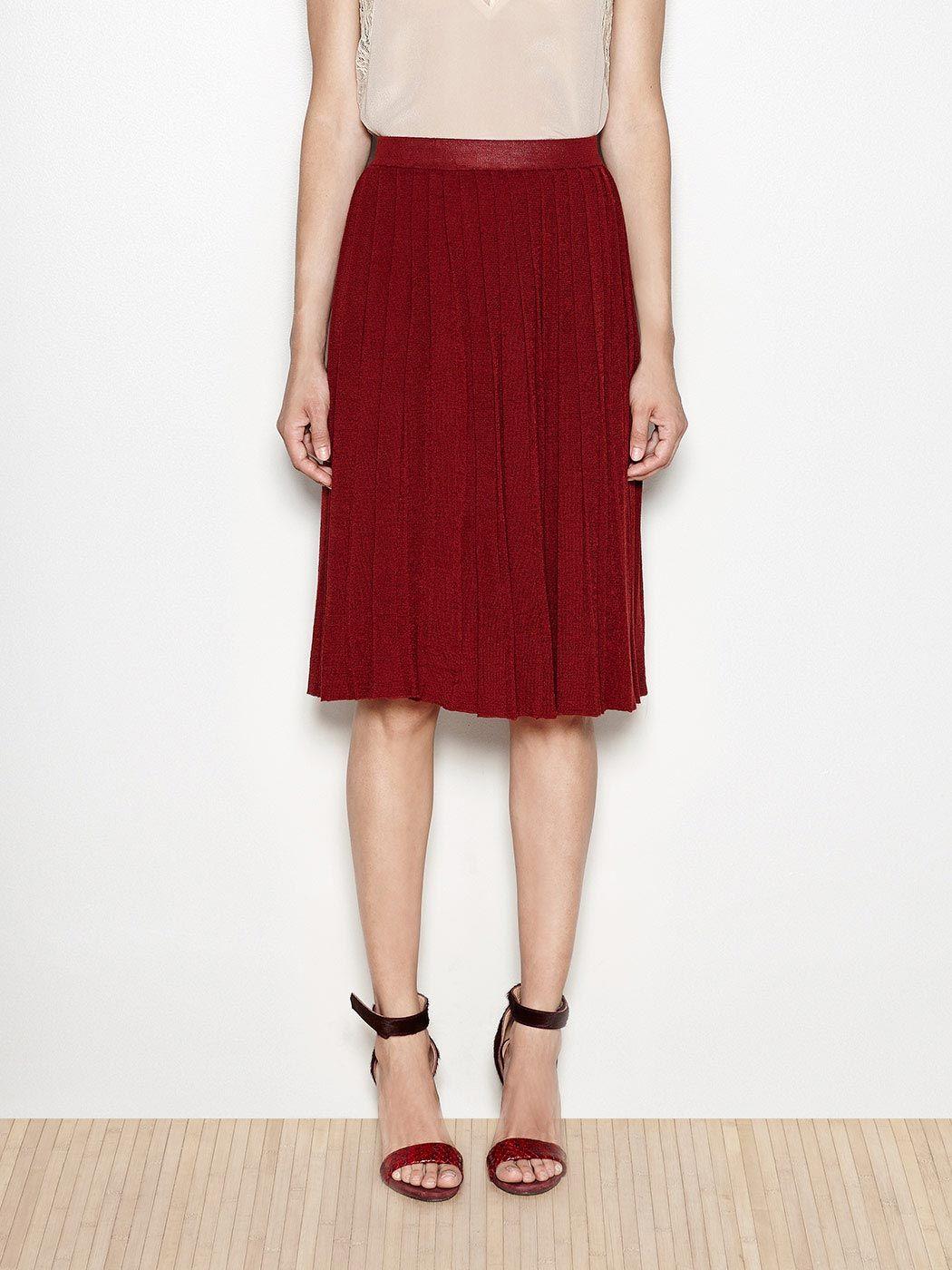 Pleated knit midi skirt | Hoss Intropia Ireland | My Style | Pinterest