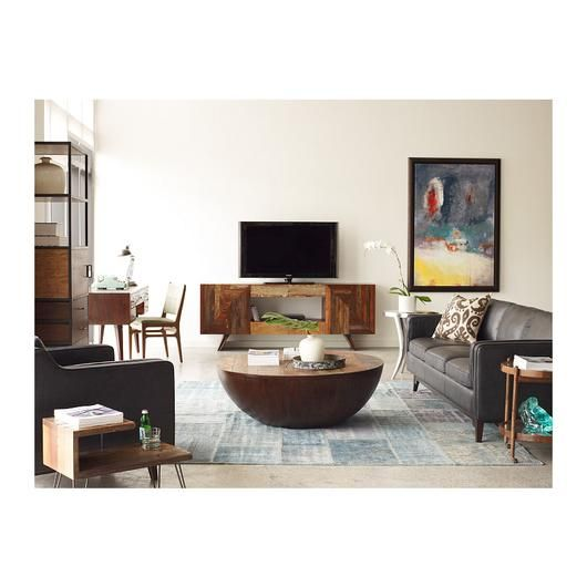 Bina Ryan Coffee Table The Zen Of This Intentionally Simple Half Sphere Can Anchor An Entire Room Natural Imperfections In Wood Make Each