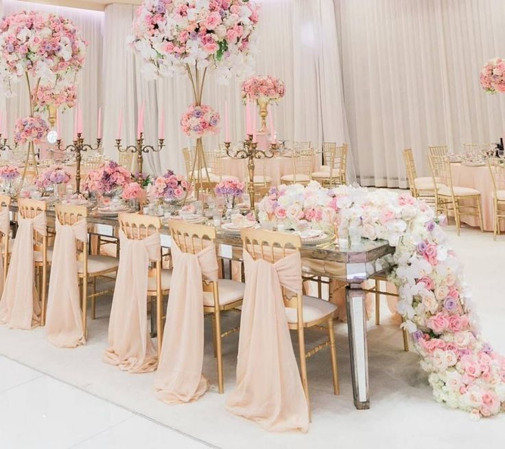 I Adore The Color Scheme For The Tablescape! Rose Pink Purple White Flowers  Centerpiece Design