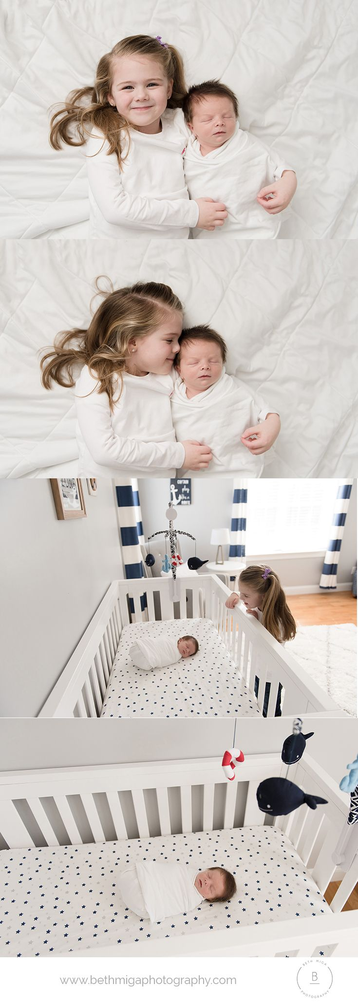 newborn and sibling pose ideas | newborn and sibling in nursery ...