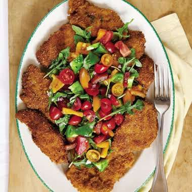 Keeper:  Breaded Chicken Cutlets (aka Grandma Jody's Chicken).  (Notes:  Don't use Olive Oil (low smoke point), use pan that just fits chicken - too big allows for more smoking.)
