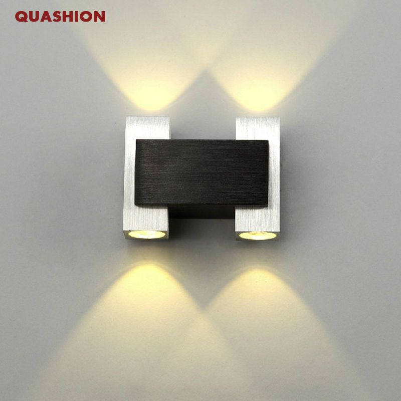 Wall Mounted Lights For Bedroom Fascinating Morden Up And Down Led Wall Sconce 2 Heads Aluminum Bedroom Bedside Inspiration Design