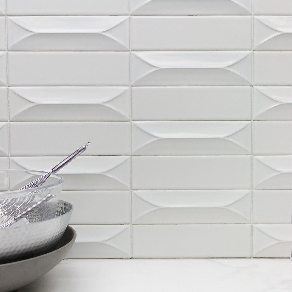 Byzantine bianco 3d ceramic tile unique sizes subway tile byzantine bianco ceramic tile white shop by color dailygadgetfo Image collections