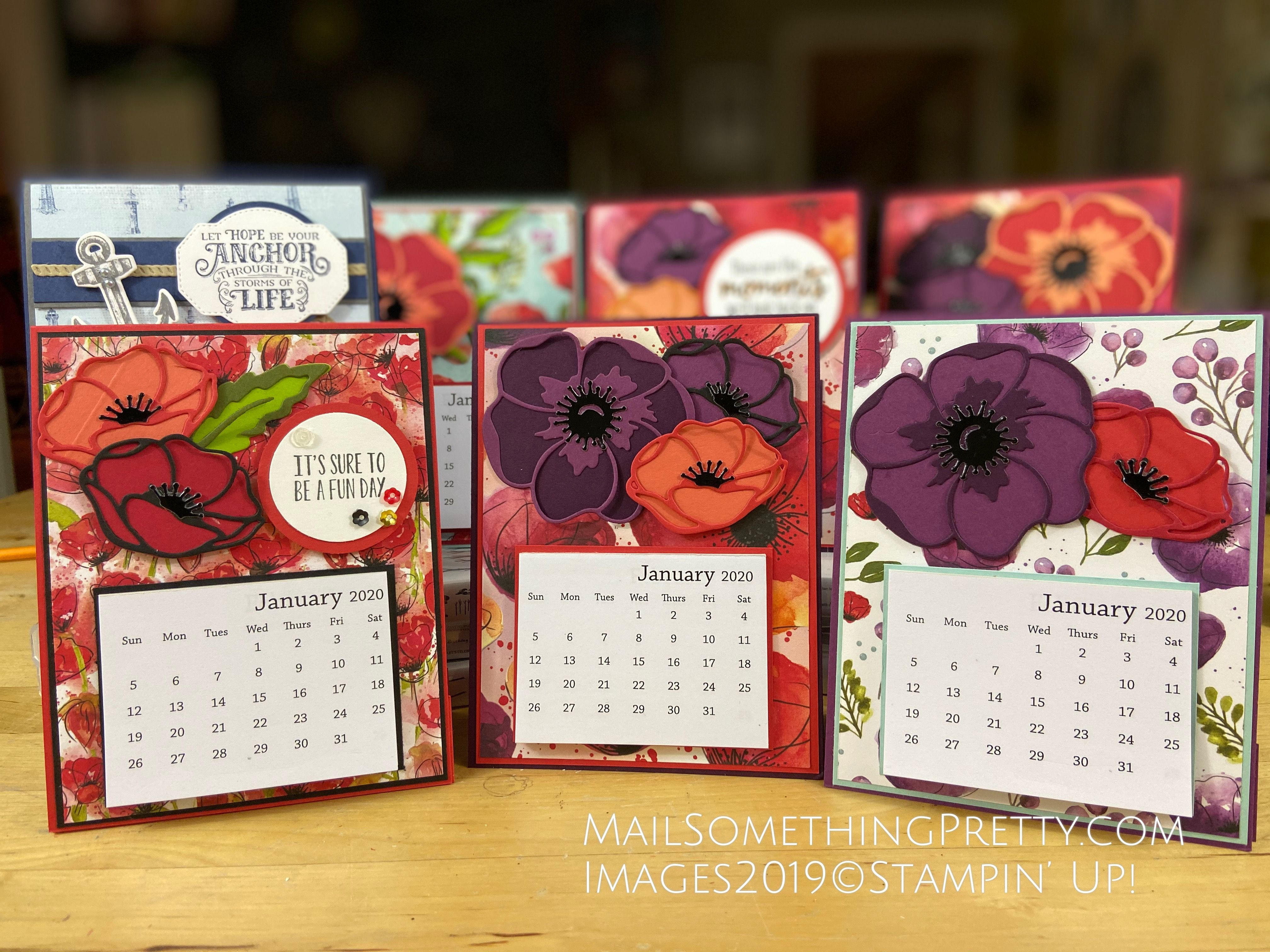 Make Your Own Desktop Calendars With Just A Few Score Lines Desktop Calendar Calendar Easel Cards