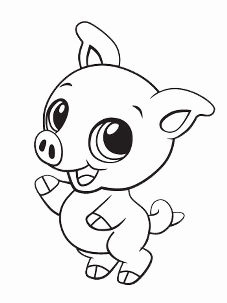 Cute Animal Coloring Pages Printable Beautiful Cute Baby Animals Coloring Pages For Kids And For In 2021 Cute Coloring Pages Monkey Coloring Pages Dog Coloring Page