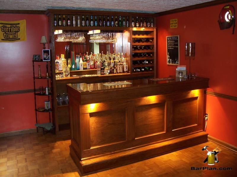 Combination home bar using the straight bar design and bar back ...