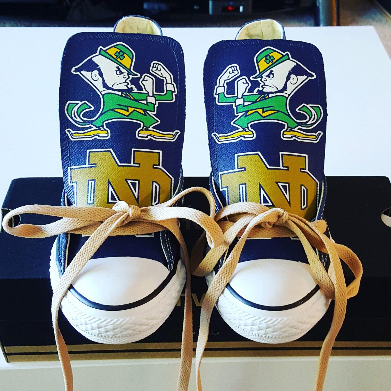 Custom Notre Dame Fighting Irish Converse (Version 1) by