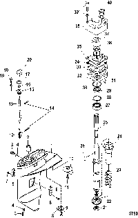 Mercury Mariner 25 30hp 2 Cyl 430cc International Gear Housing Driveshaft Toyota Corolla New Holland Skid Steer Diagram Design