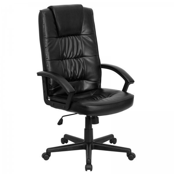 black leather office chair. Fine Leather High Back Black Bonded Leather Executive Office Chair Black 445 With F