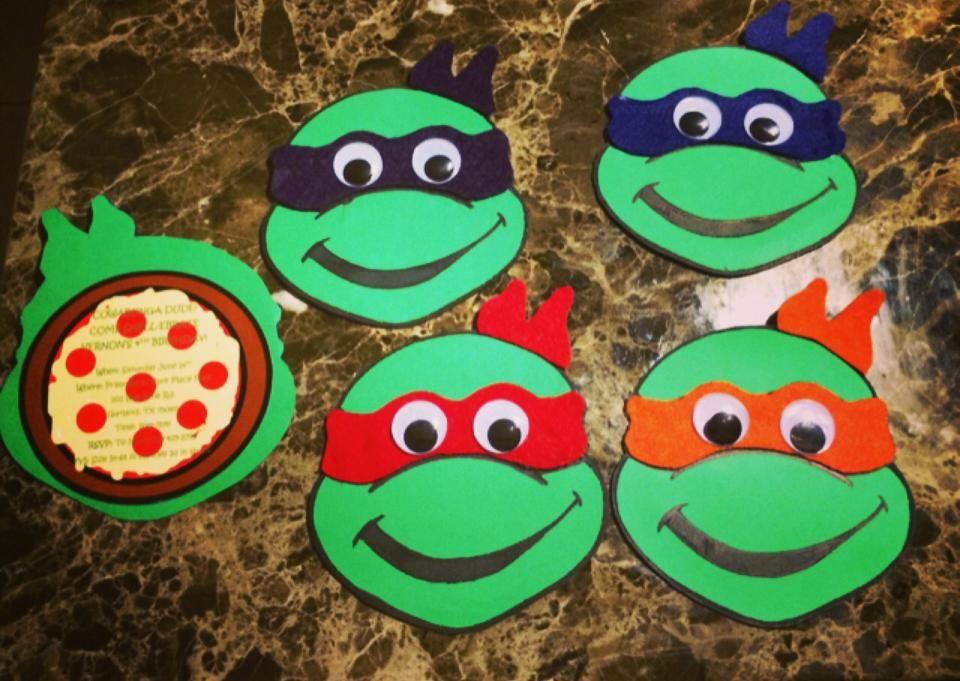DIY Ninja Turtle Invitations – Teenage Mutant Ninja Turtle Party Invitations