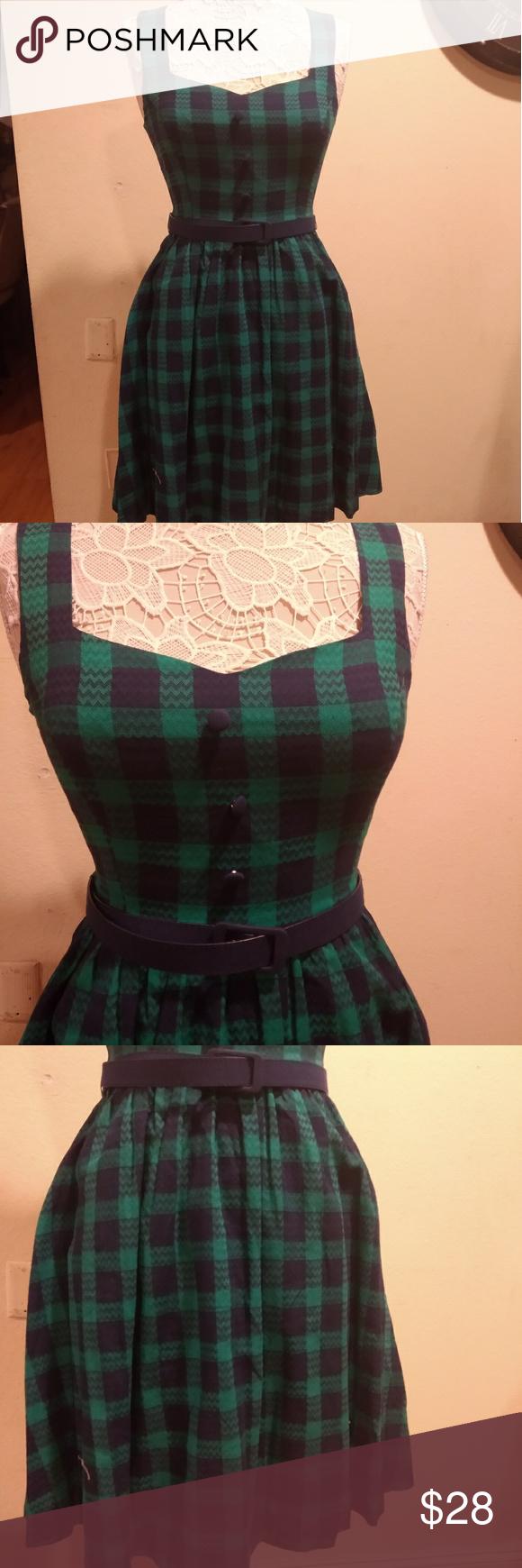 Modcloth Green Plaid Dress Green Plaid Dress Mod Cloth Dresses Plaid Dress [ 1740 x 580 Pixel ]