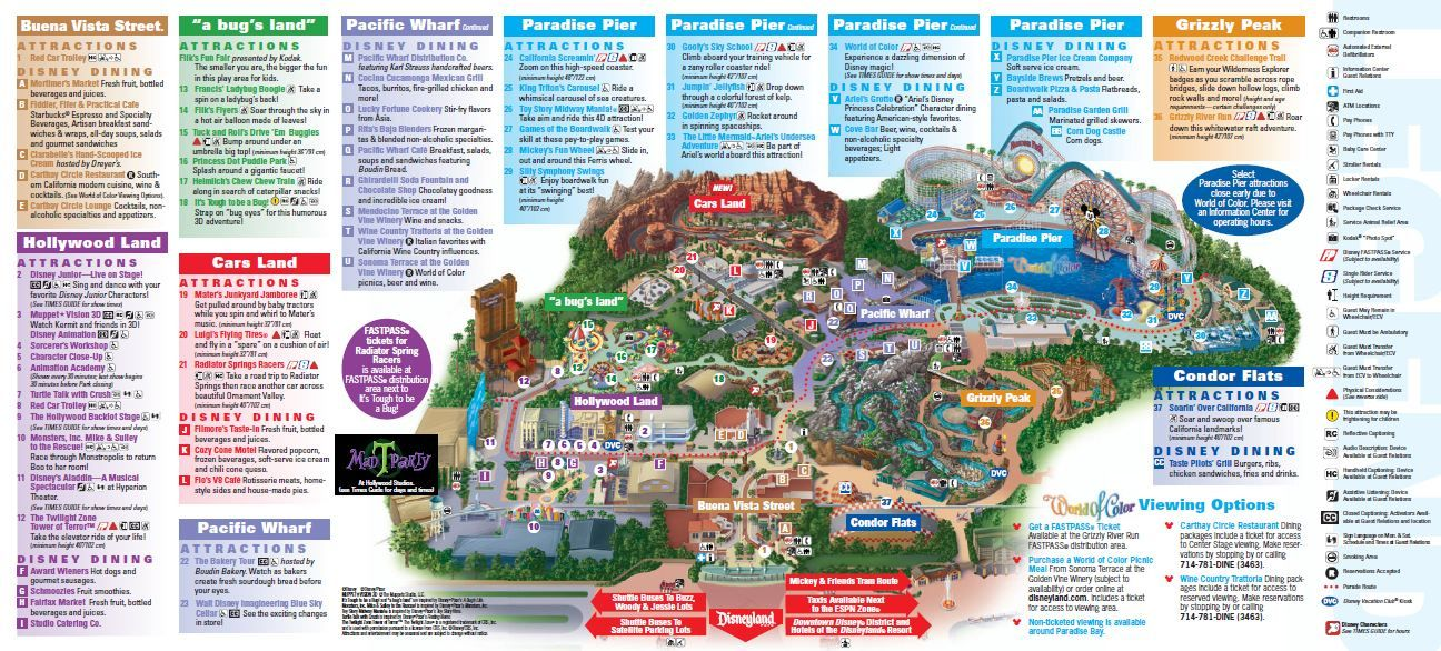 Maps Of California Adventure Map 2013 Pdf Disneyland Map