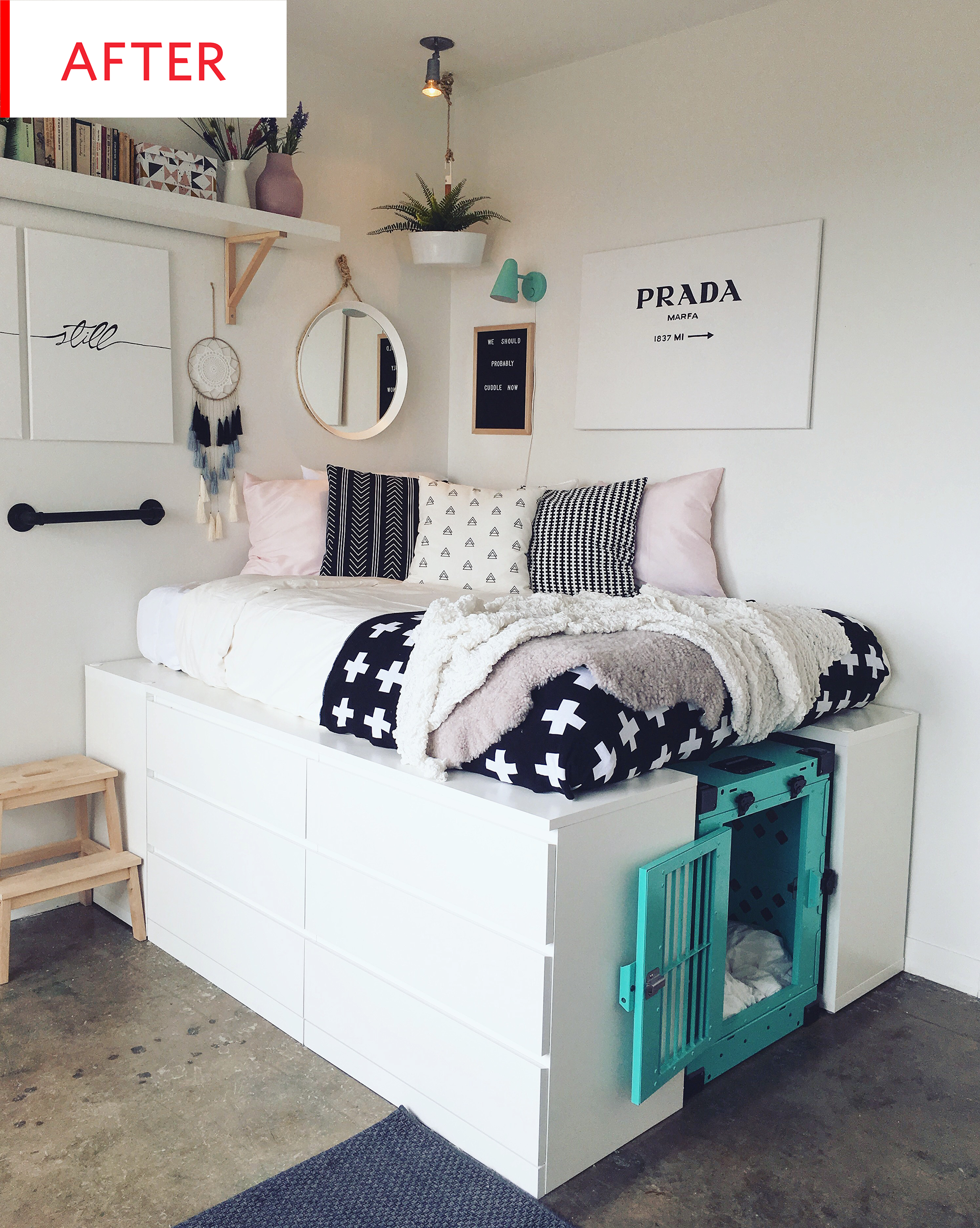 Ikea storage bed hack Cabin Bed Before And After This Makeover Comes With Multipurpose Ikea Storage Bed Hack Pinterest Surprising Multipurpose Ikea Storage Bed Hack Dream Is Wish
