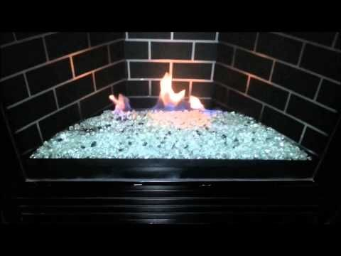 Gndc33 Heatilator Gas Fireplace Conversion To Fire Glass Rock Or Stones Removed Logs Youtube Fire Glass Fireplace Gas Fireplace Glass Fireplace