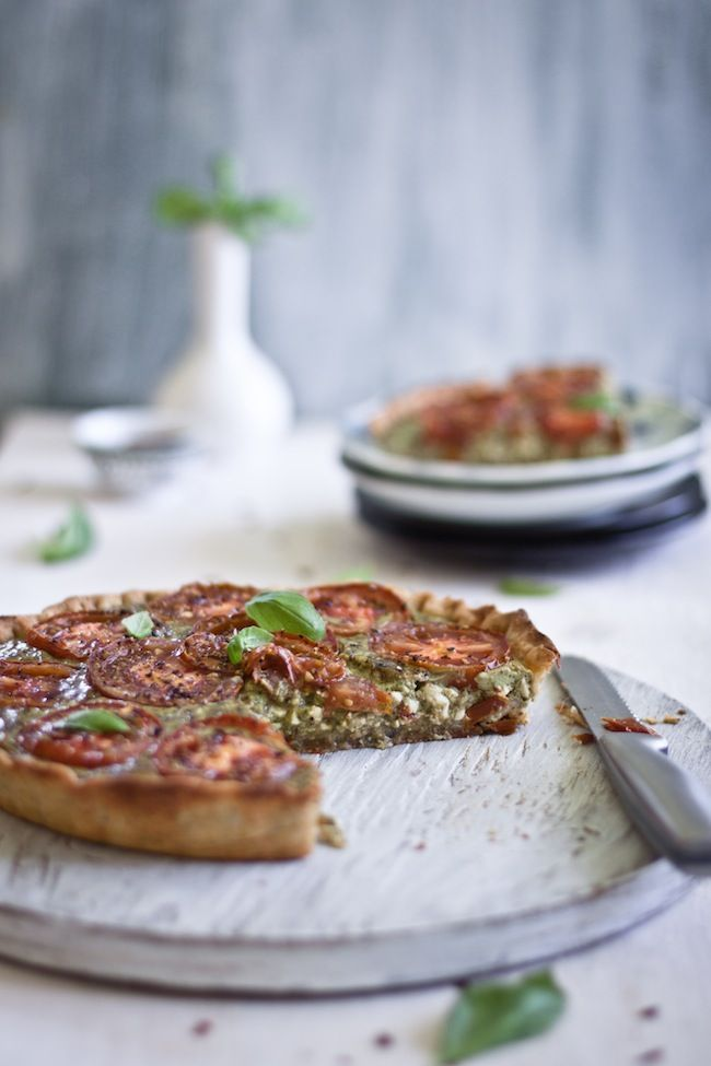Tomato Tart with Basil and Paneer | Playful Cooking