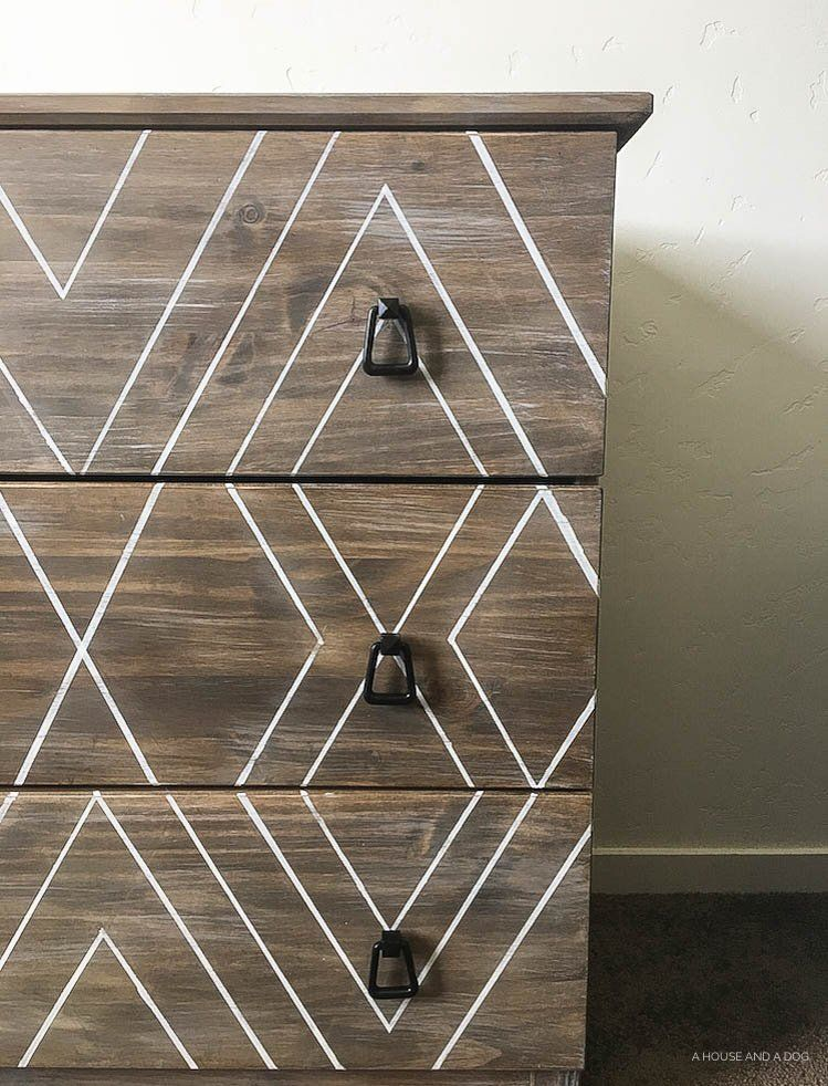 diy ikea hack dresser. DIY Ikea Hack - Modern Graphic Tarva Dresser   One Room Challenge Ahouseandadog.com Diy
