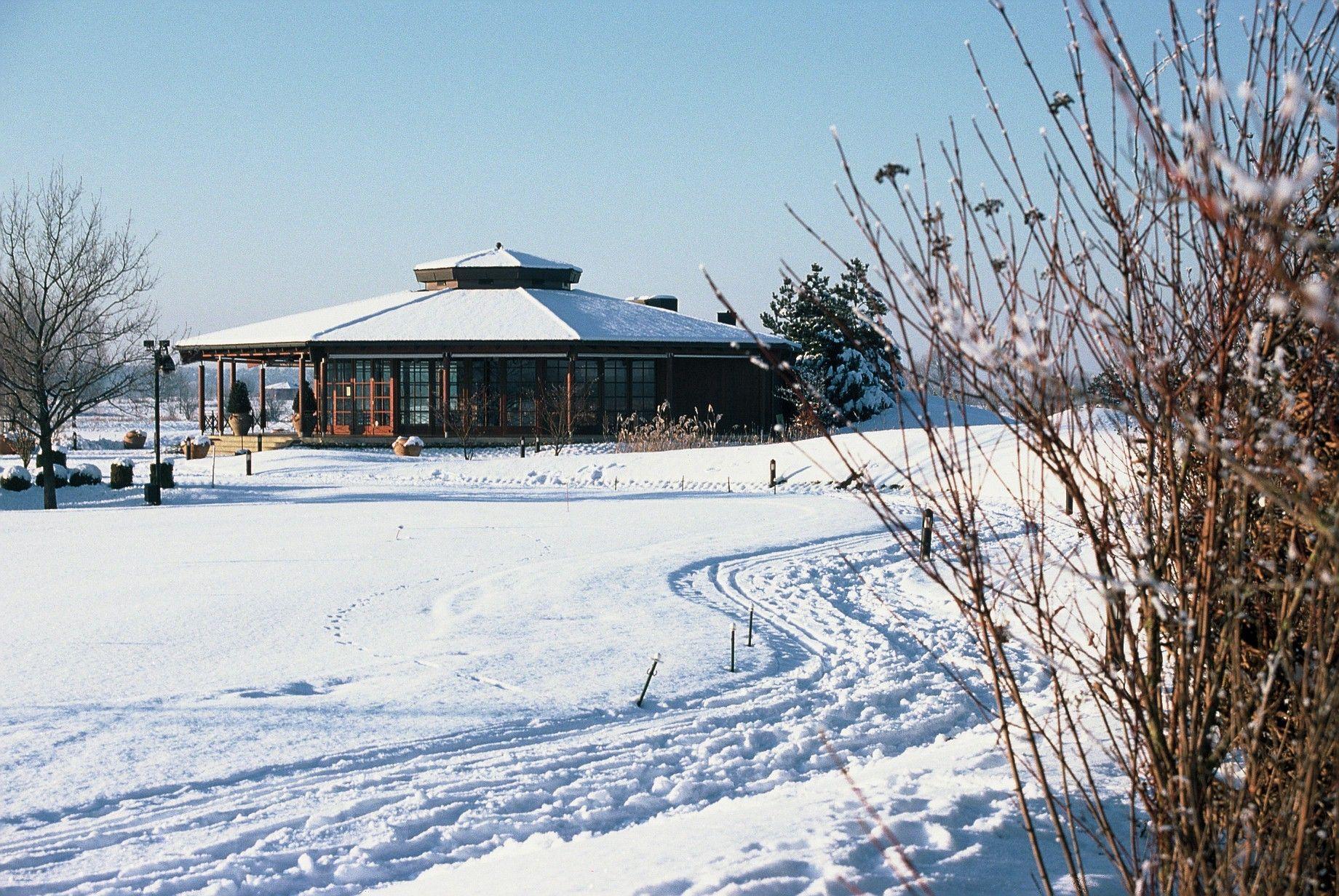 Auch im Winter ein kuscheliger Veranstaltungsort für Weihnachts- und Winterfeiern